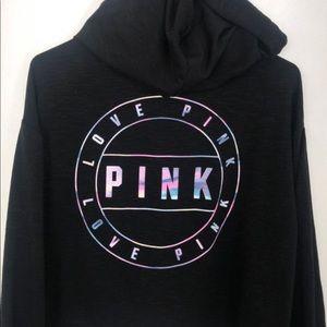 Victoria's Secret PINK Black Cropped Sweater